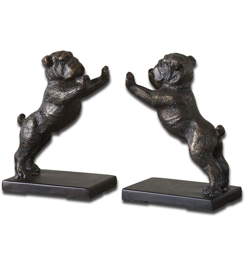 Bulldogs Cast Iron Bookends (Set of 2)