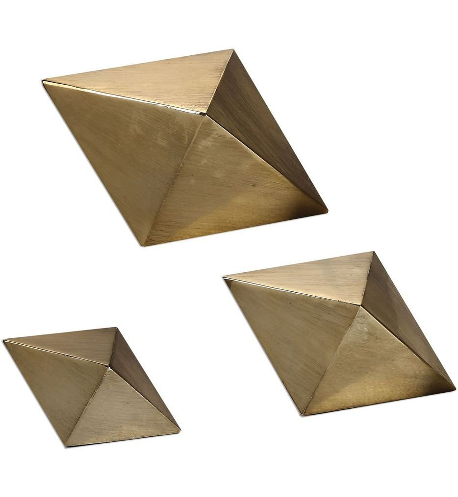 Champagne Rhombus Accents (Set of 3)