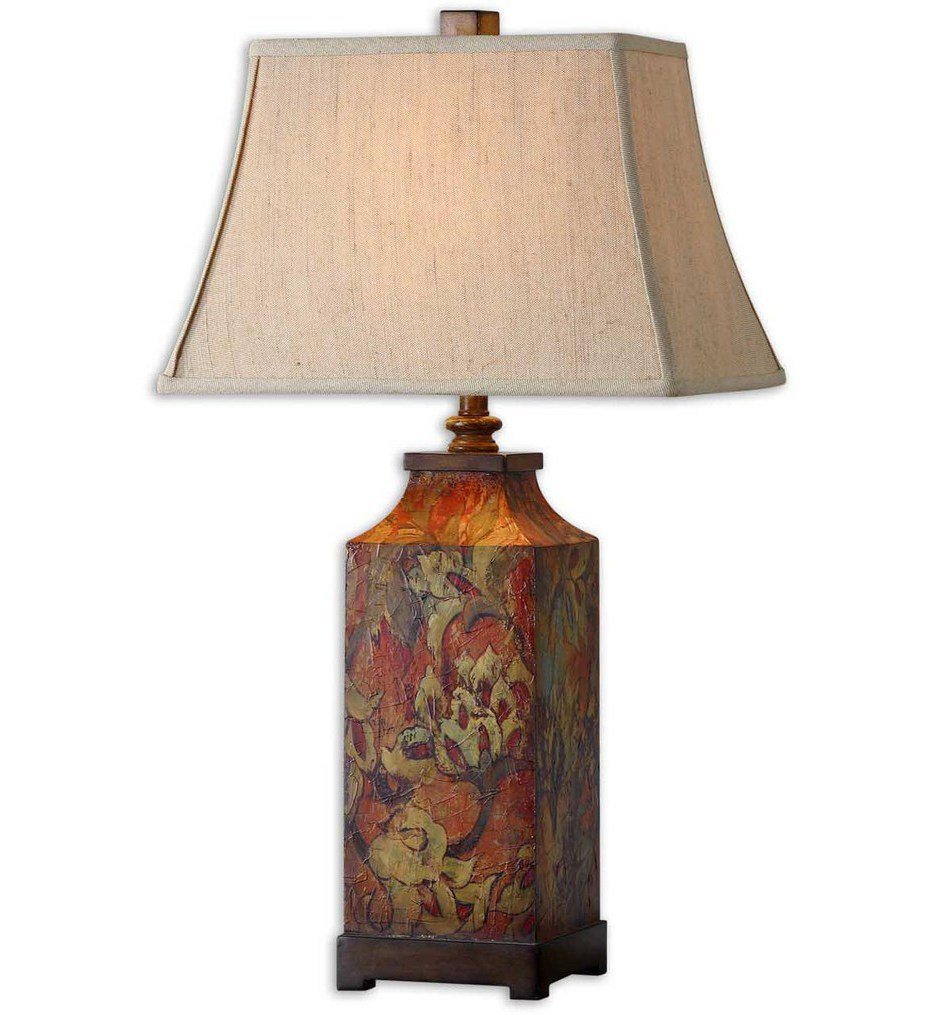 """Colorful Flowers 32"""" Table Lamp"""