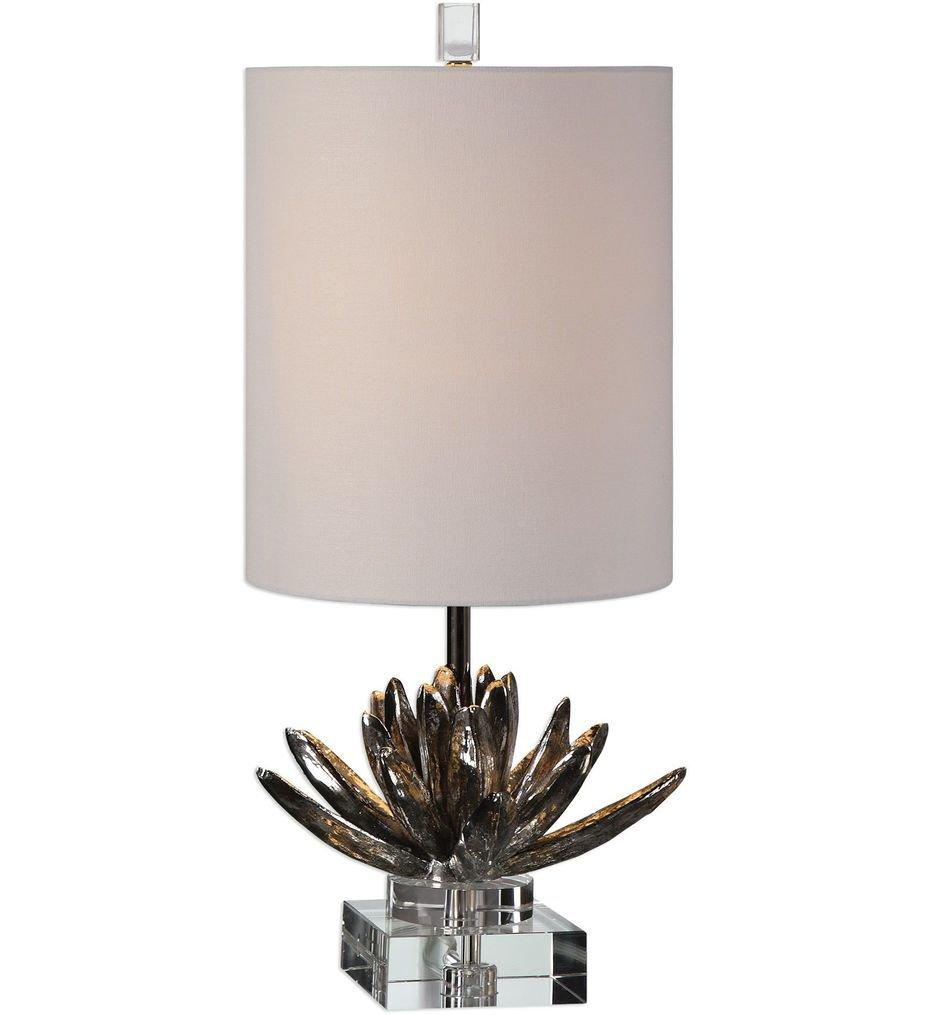 "Silver Lotus 25"" Table Lamp"