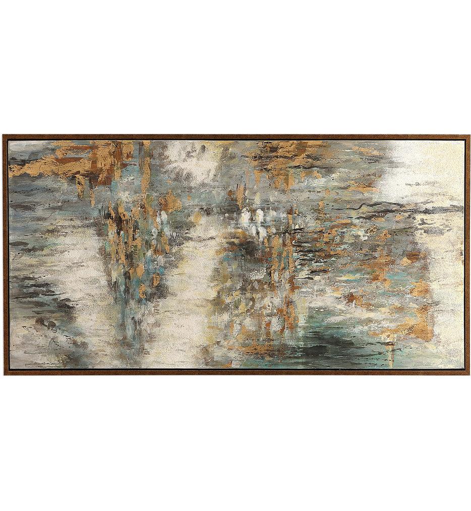 Behind The Falls Abstract Art