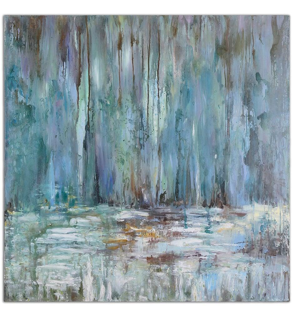 Blue Waterfall Art