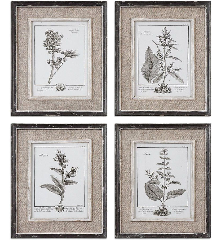 Casual Grey Study Framed Art (Set of 4)