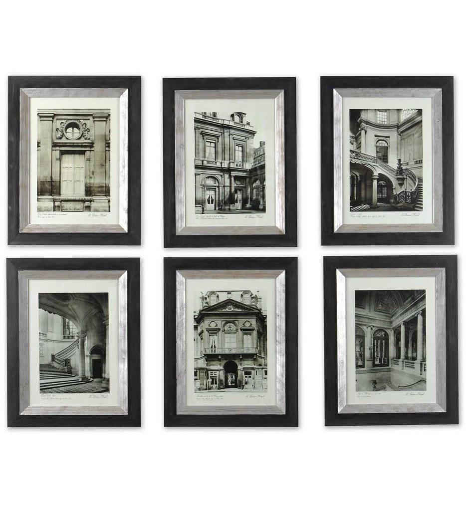 Paris Scene Framed Art (Set of 6)