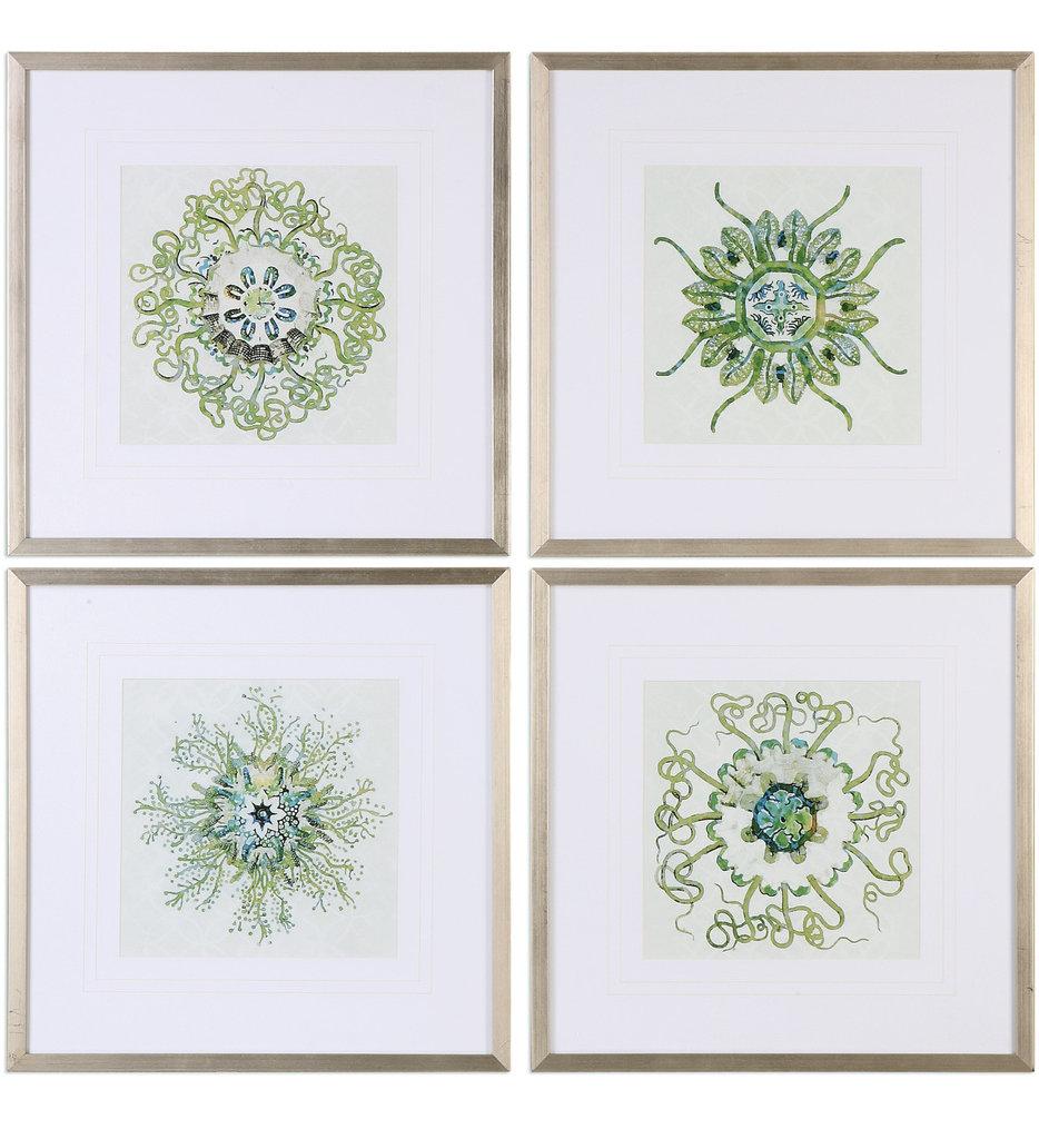 Organic Symbols Print Art (Set of 4)