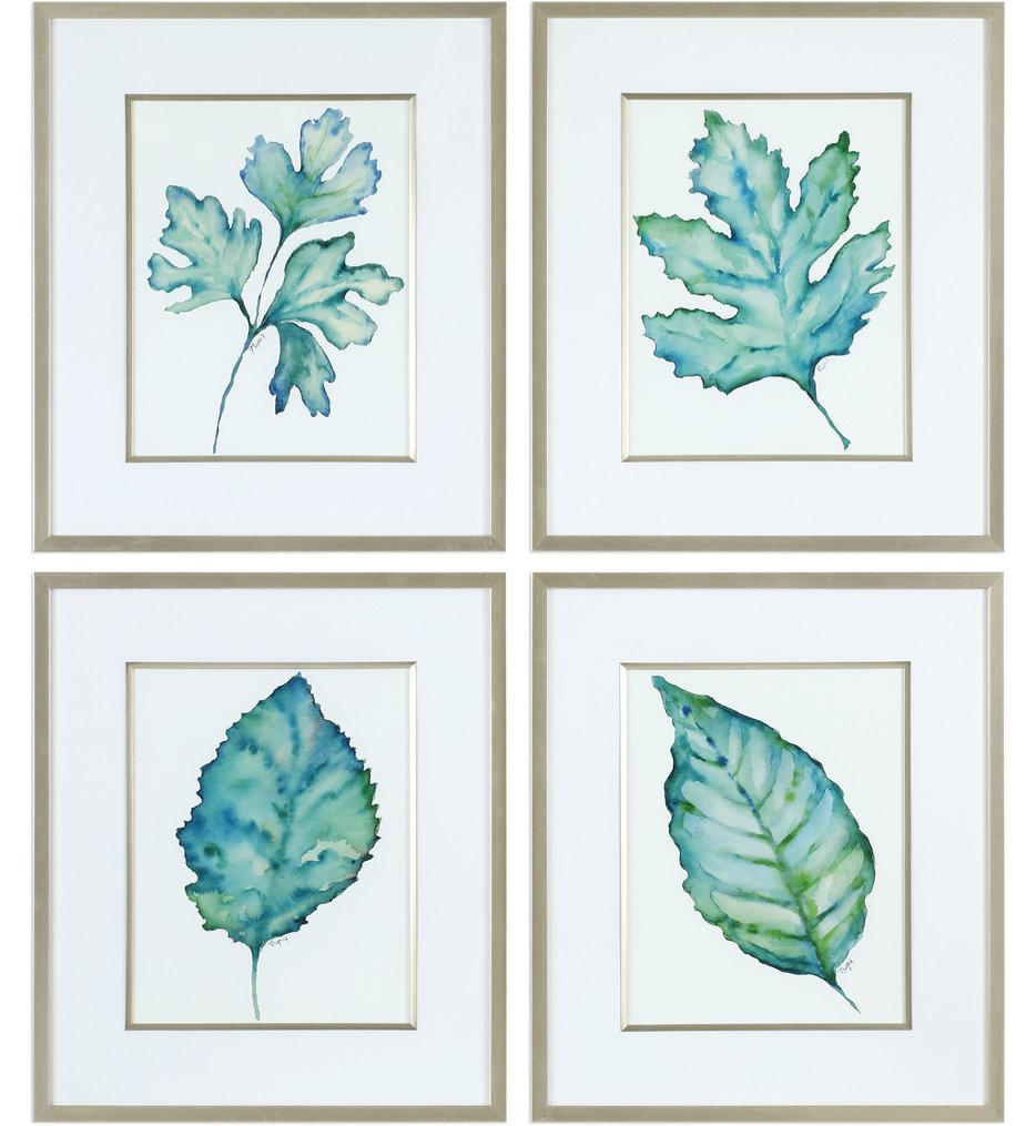 Spring Leaves Prints (Set of 4)