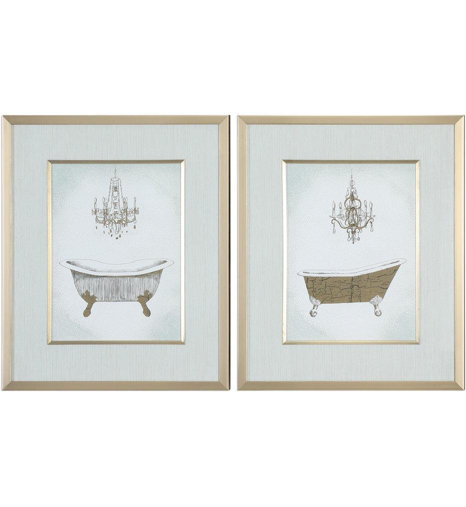 Gilded Bath Prints (Set of 2)