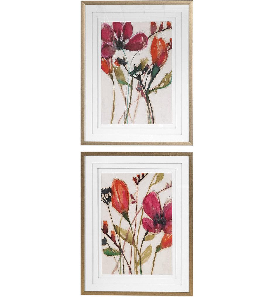 Vivid Arrangement Floral Prints (Set of 2)