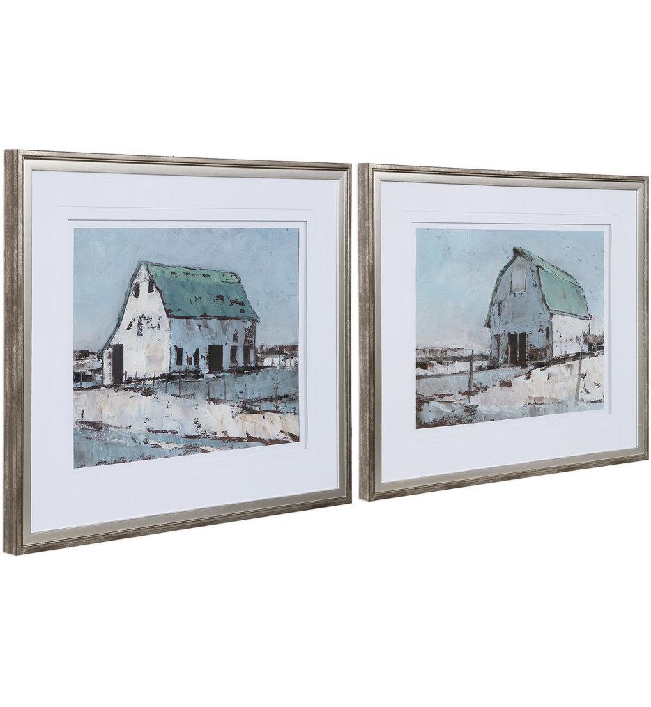 Plein Air Barns Framed Prints (Set of 2)