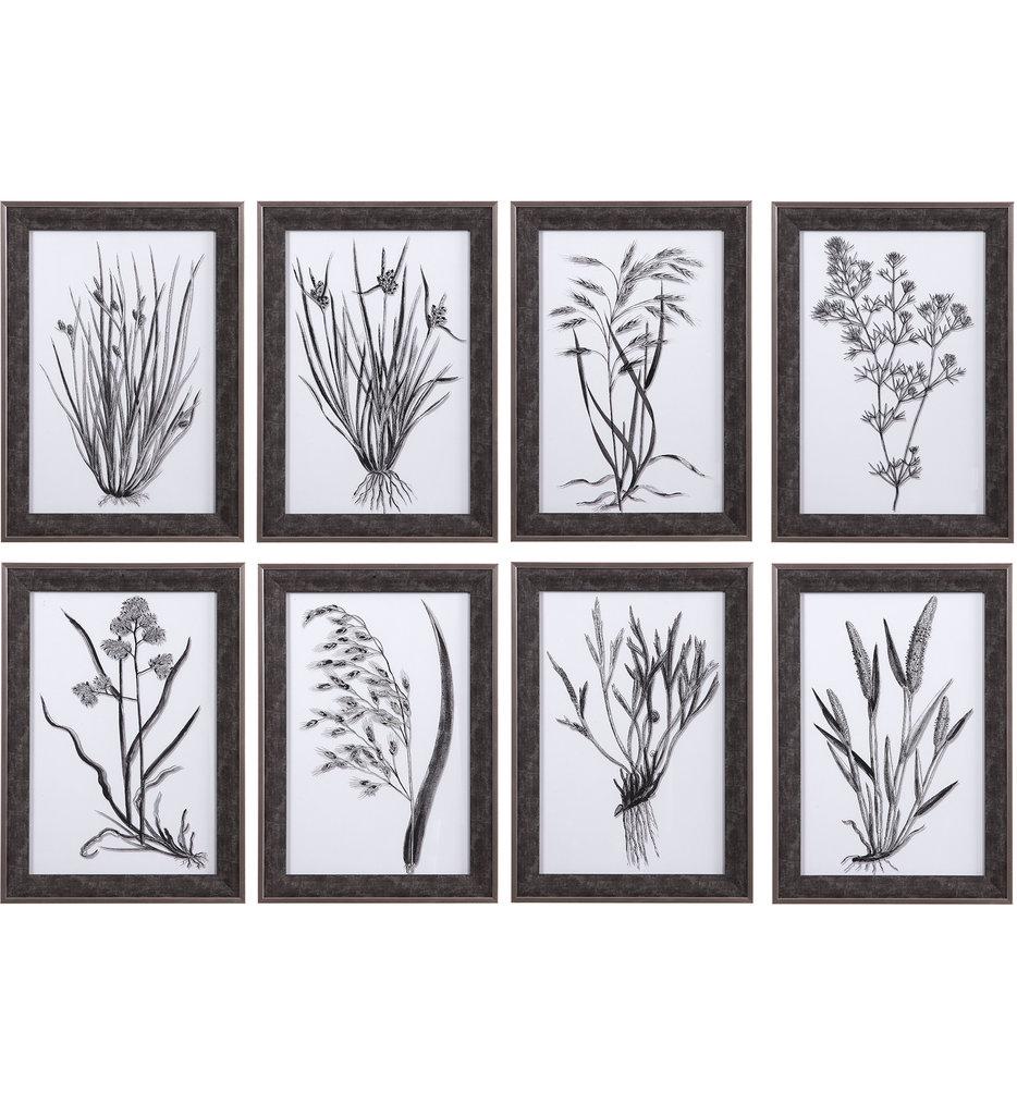 Classic Botany Framed Prints (Set of 8)