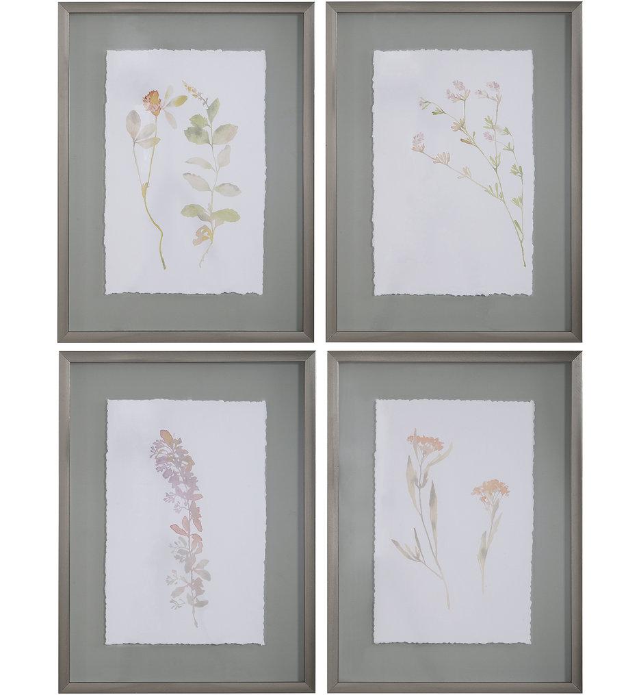 Flourish Framed Botanical Prints (Set of 4)