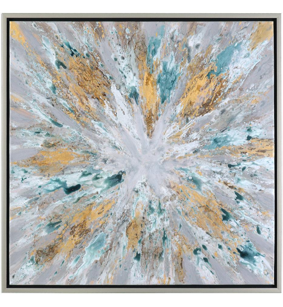 Exploding Star Modern Abstract Art