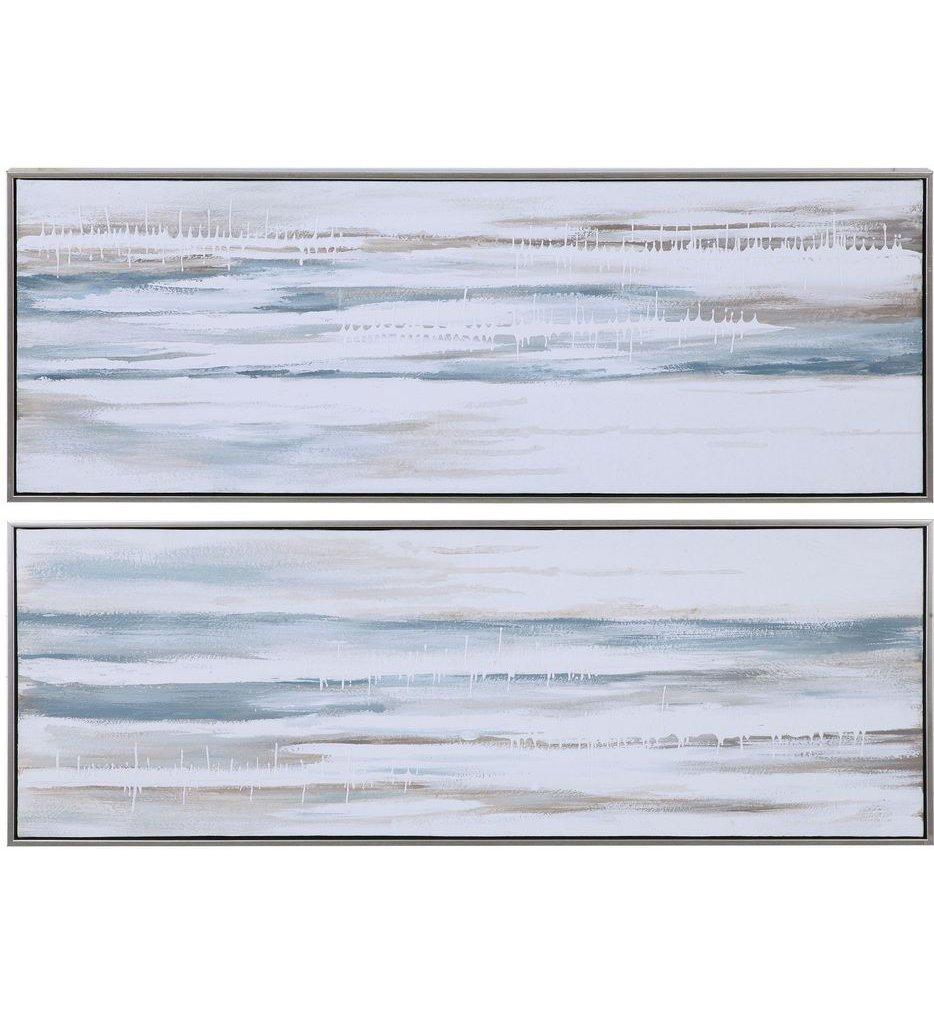 Drifting Abstract Landscape Art (Set of 2)