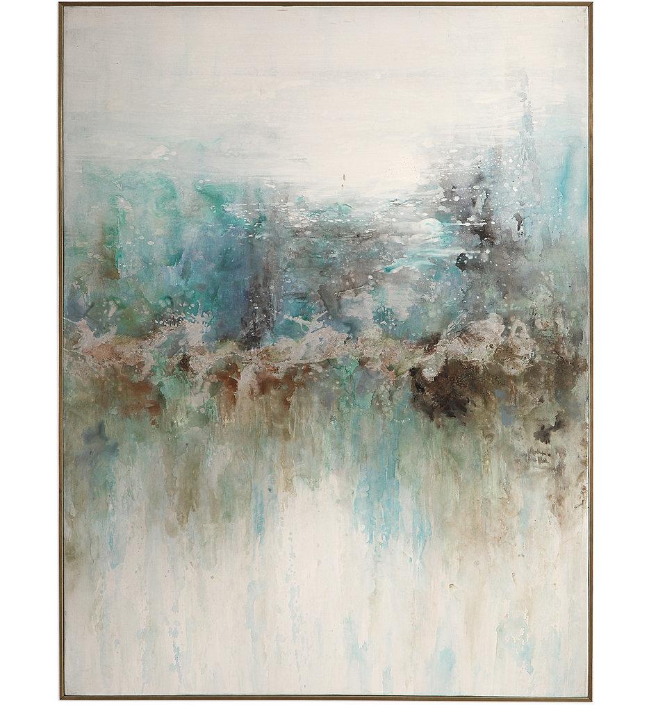Mountain Top Abstract Art