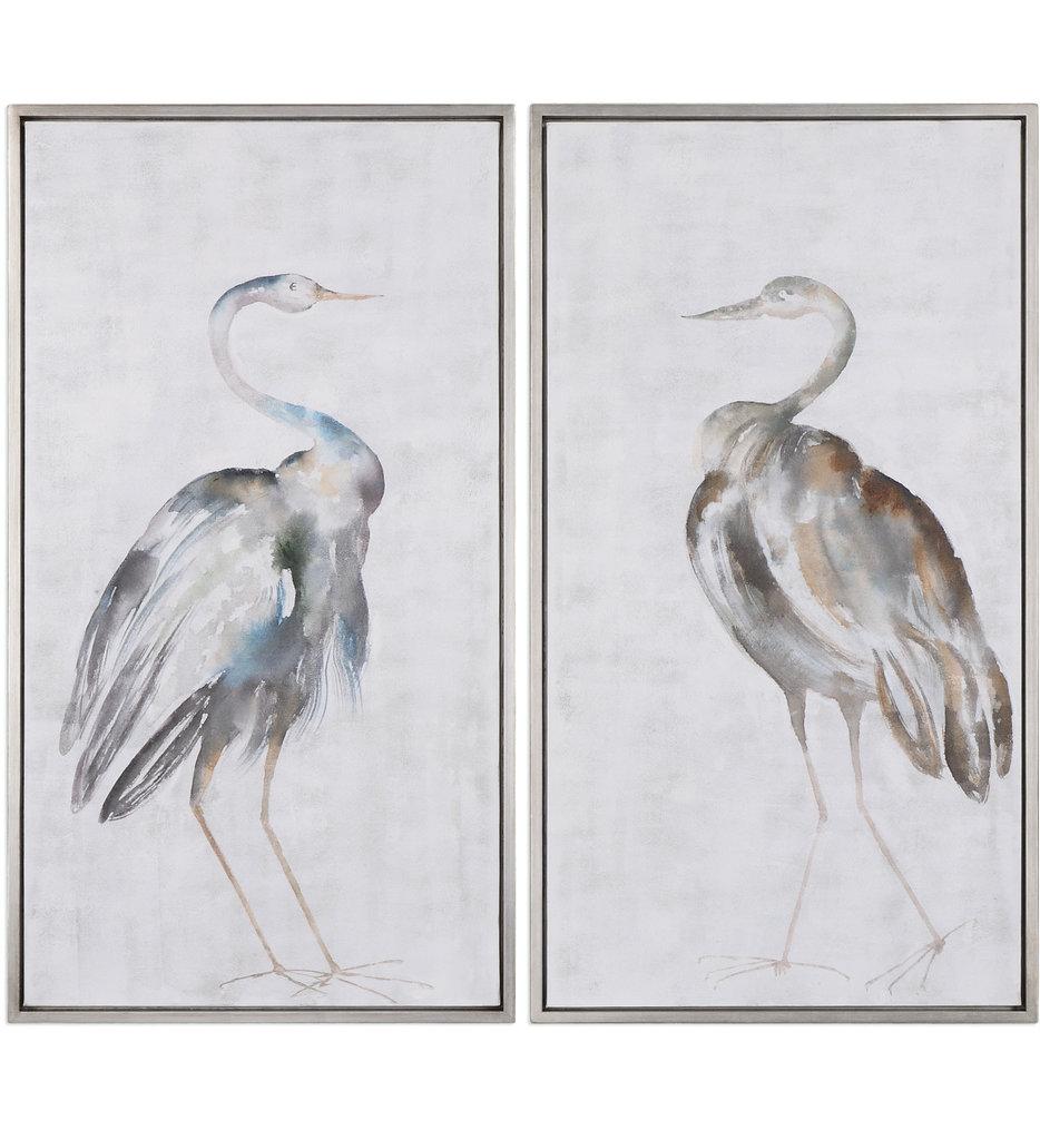 Summer Birds Framed Art (Set of 2)