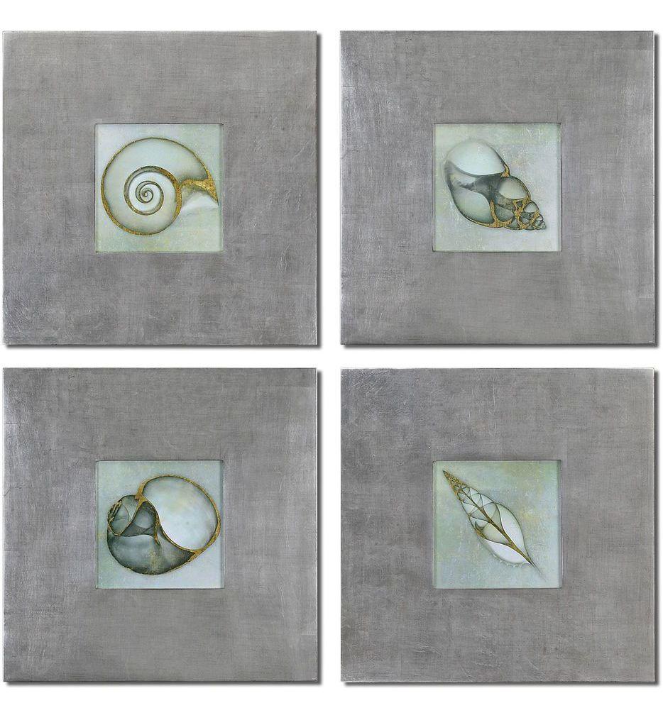 Neptunes Garden Framed Art (Set of 4)