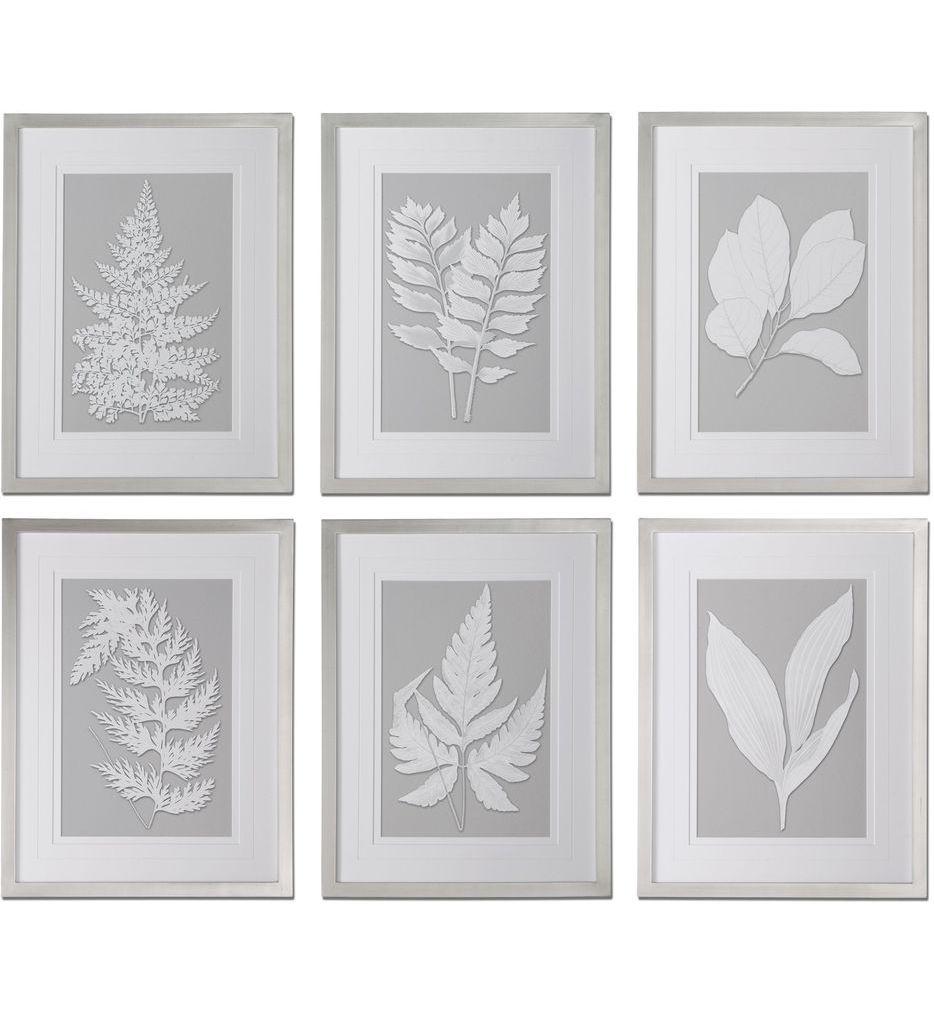 Moonlight Ferns Framed Art (Set of 6)