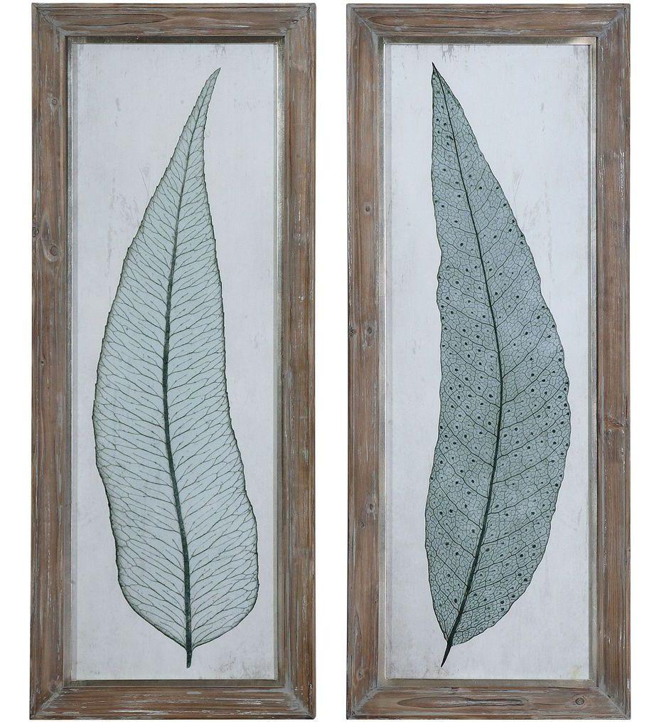Tall Leaves Framed Art (Set of 2)