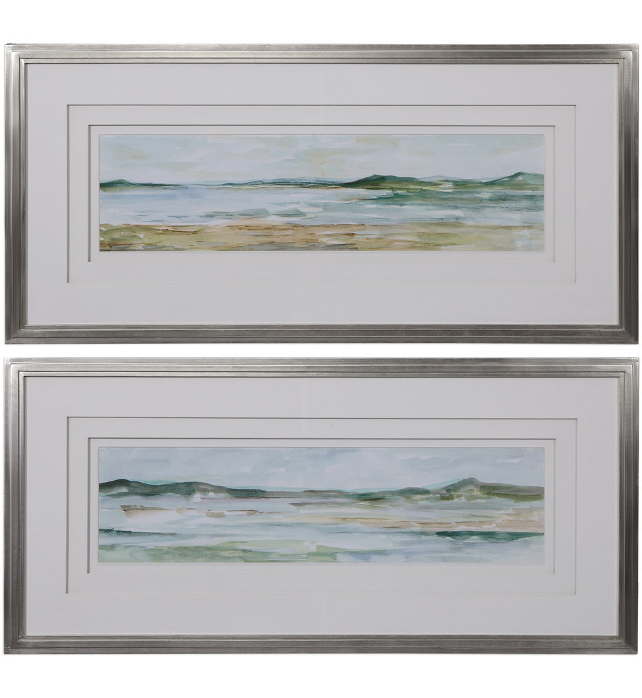 Panoramic Seascape Framed Prints (Set of 2)