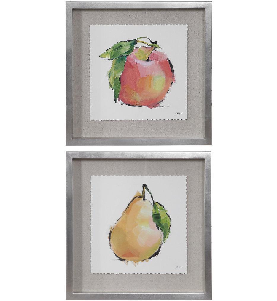 Designer Fruits Framed Prints (Set of 2)