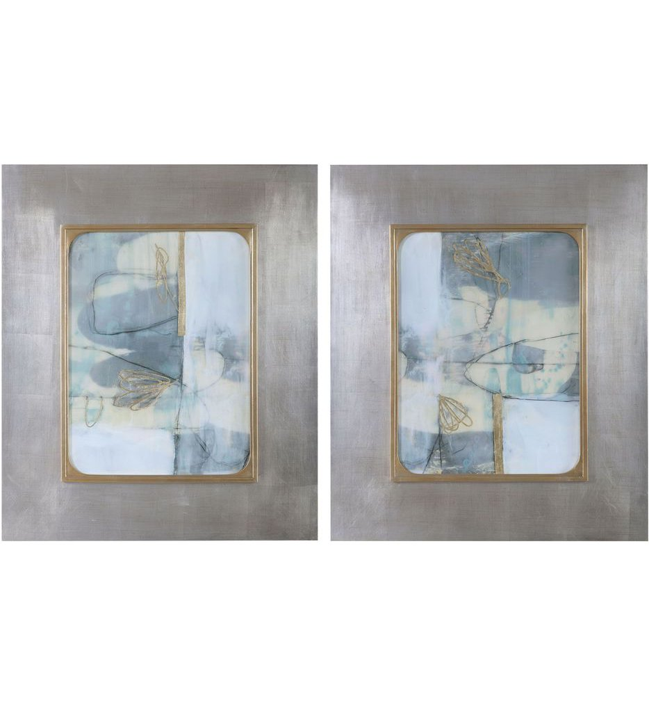 Gilded Whimsy Abstract Prints (Set of 2)
