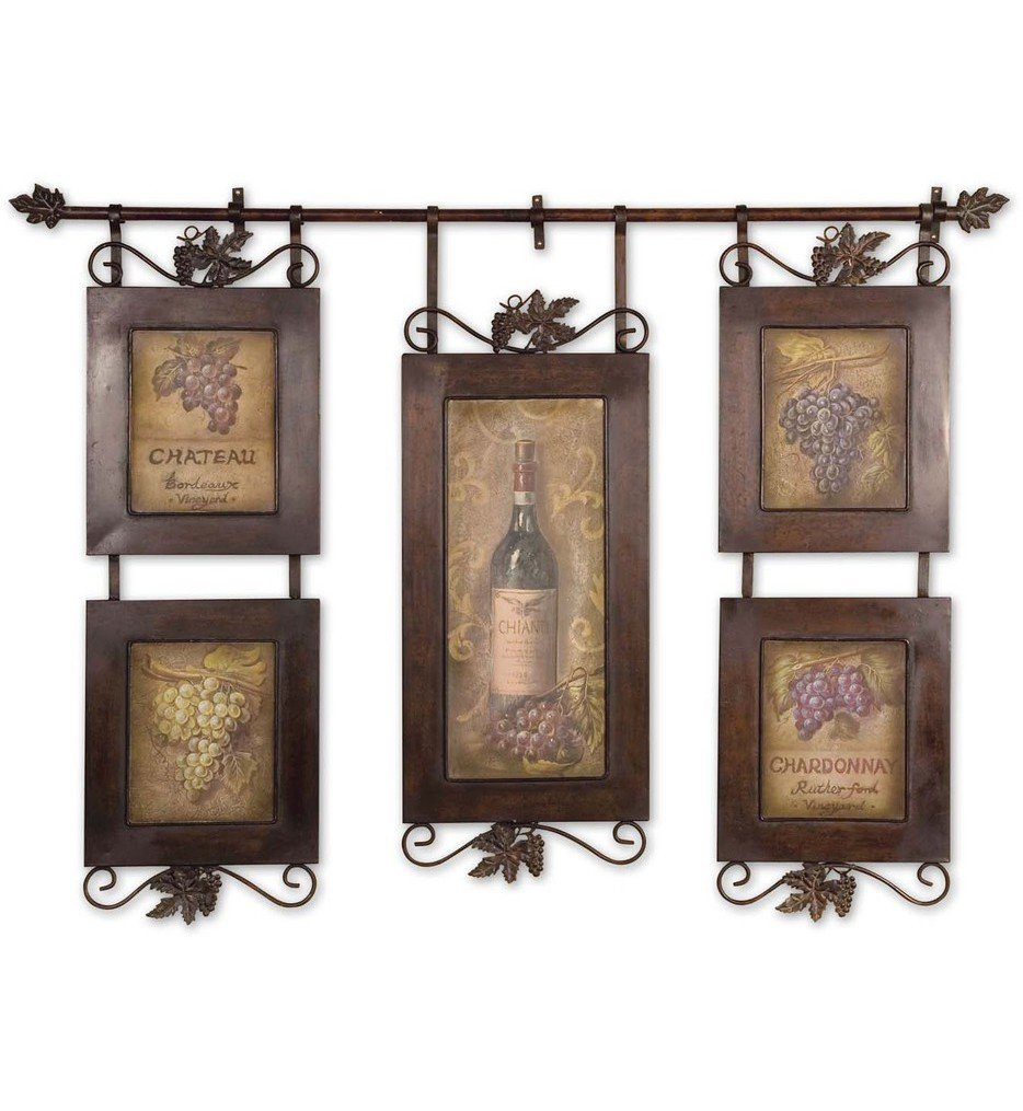Hanging Wine Framed Art