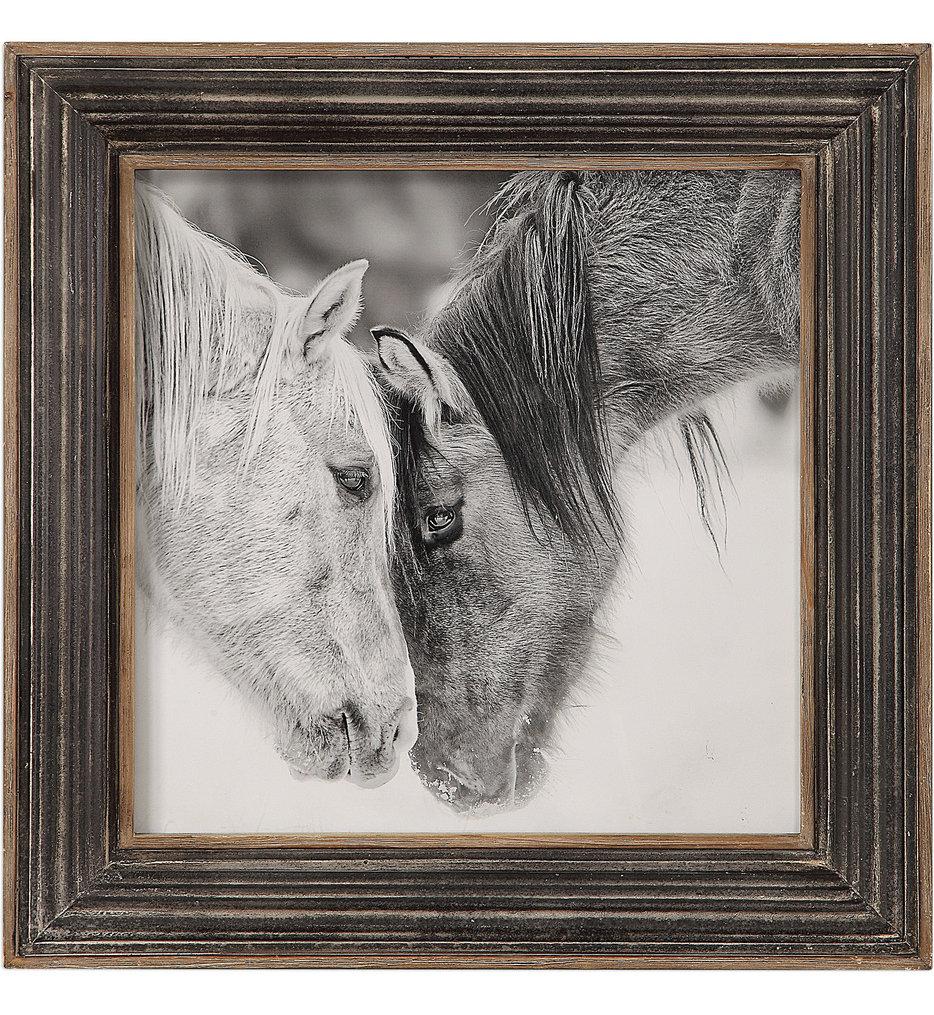 Custom Black & White Horses Print