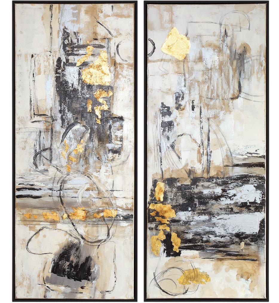 Life Scenes Abstract Art (Set of 2)