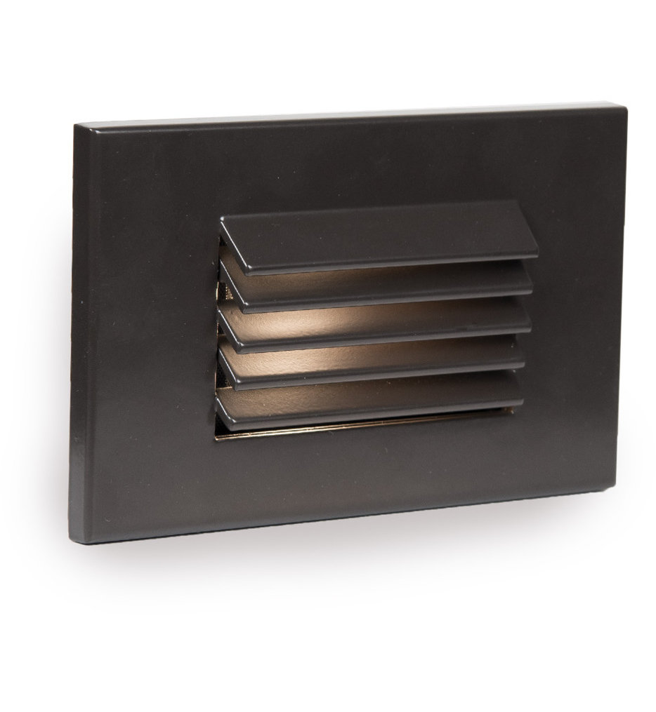 WAC Landscape LED Low Voltage Horizontal LouveOutdoor Step & Wall Light