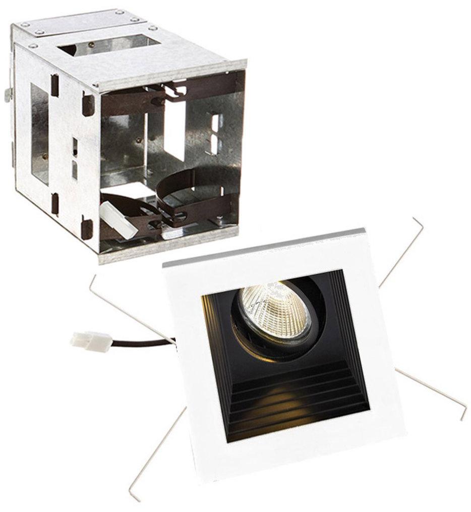 Mini Multiples Remodel LED Wide Flood Beam Single Light Multispot Complete Recessed Kit