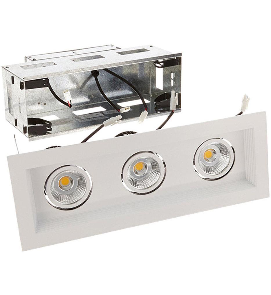 Mini Multiples Remodel LED Wide Flood Beam 3 Light Multispot Complete Recessed Kit