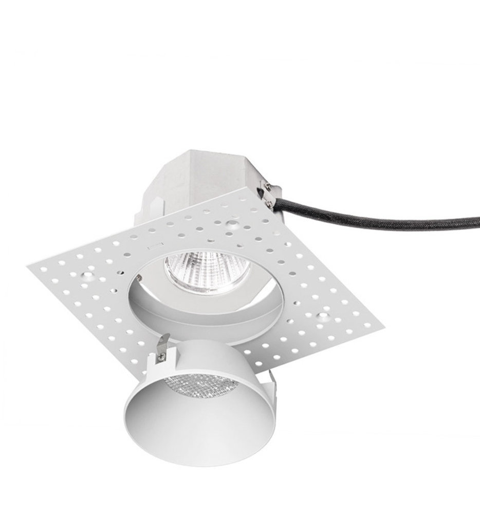 """Aether LED Narrow Flood Beam Round Invisible 3.5"""" Recessed Trim"""