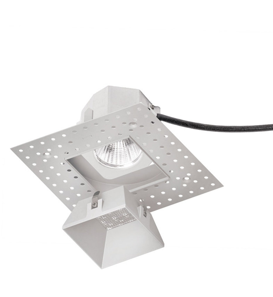 """Aether LED Narrow Flood Beam Square Invisible 3.5"""" Recessed Trim"""