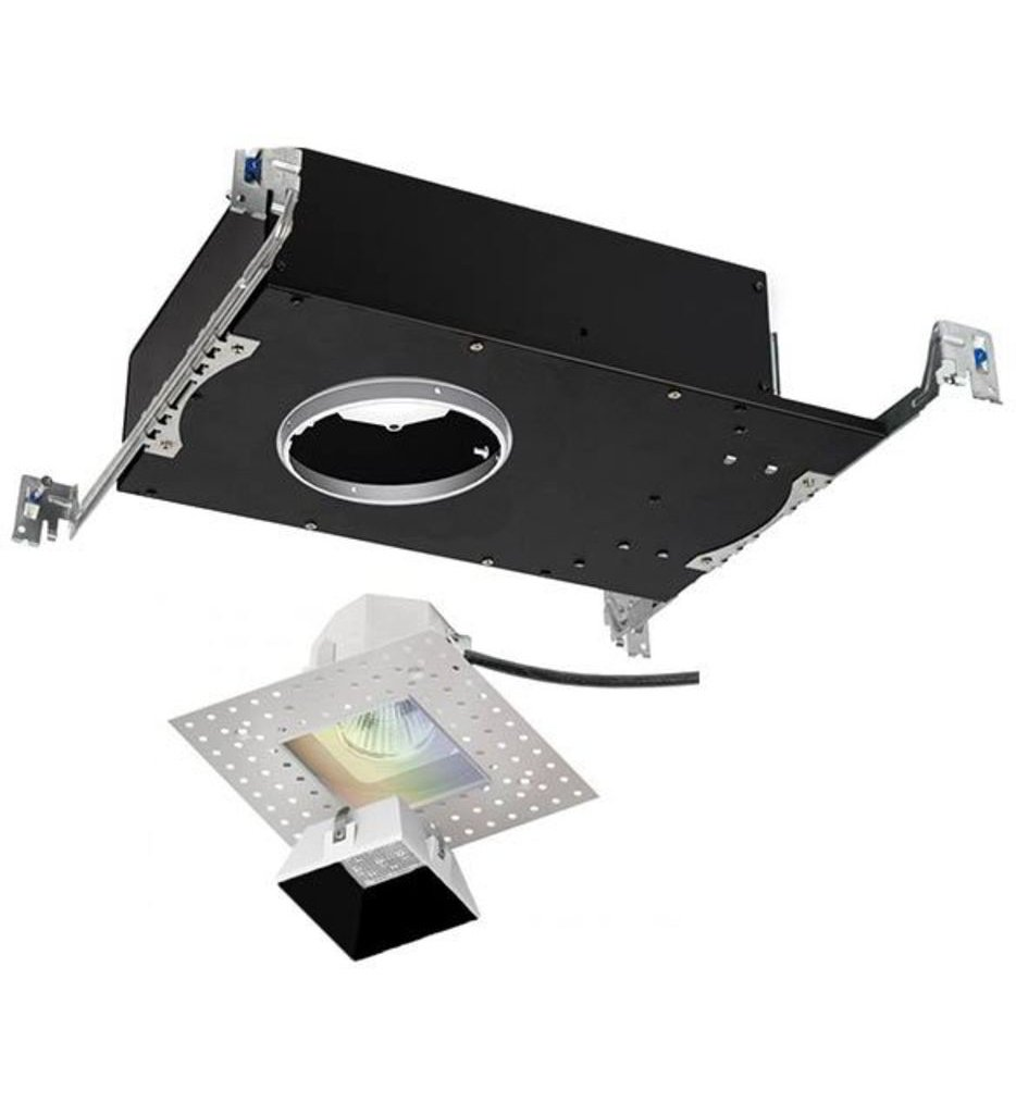 """Aether Color Changing Flood Beam Square Invisible 3.5"""" Recessed Trim"""