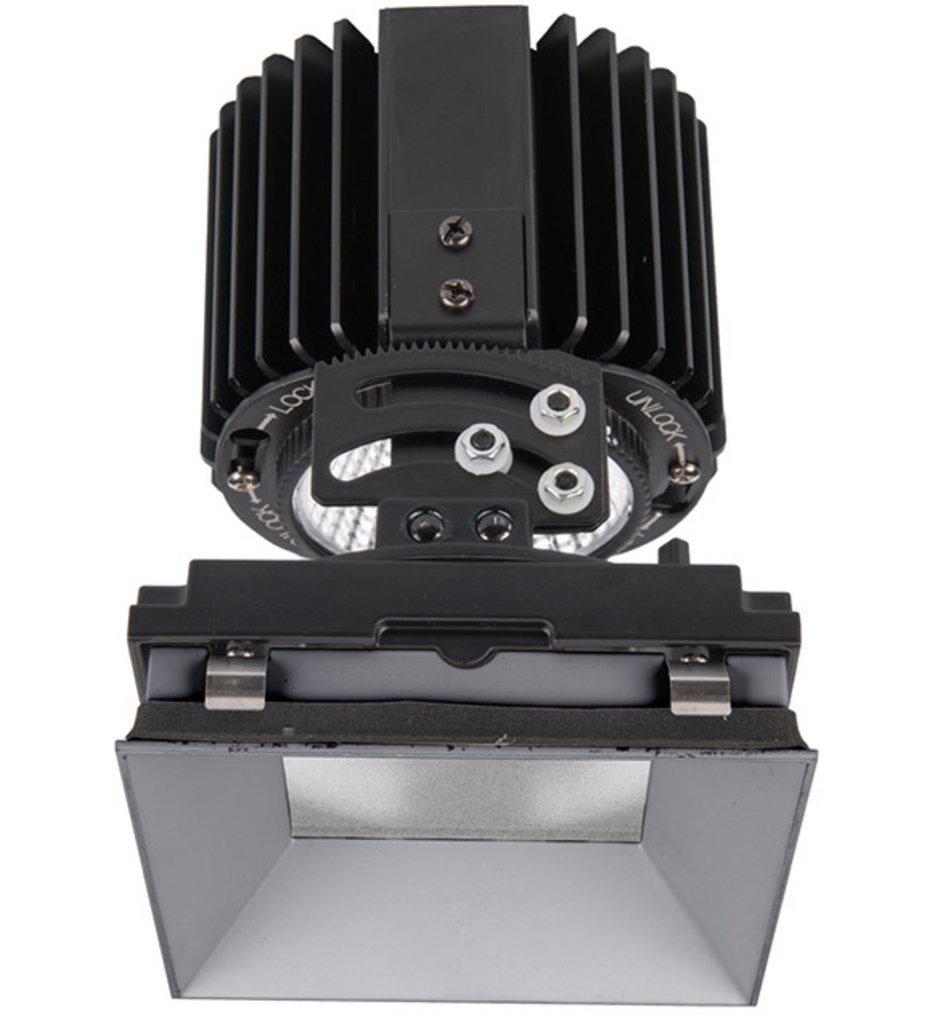 "Volta LED Narrow Flood Beam Square Adjustablevisible 4.5"" Recessed Trim"