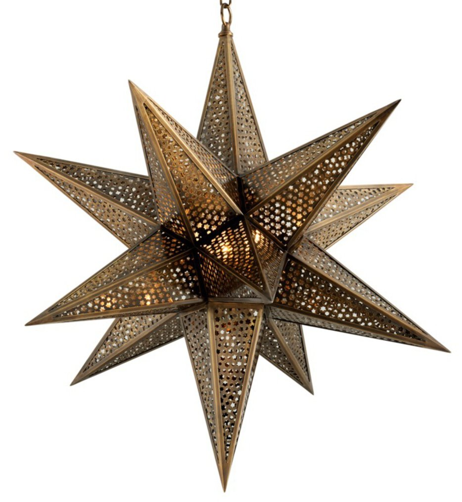 """Star of the East 30"""" Chandelier"""