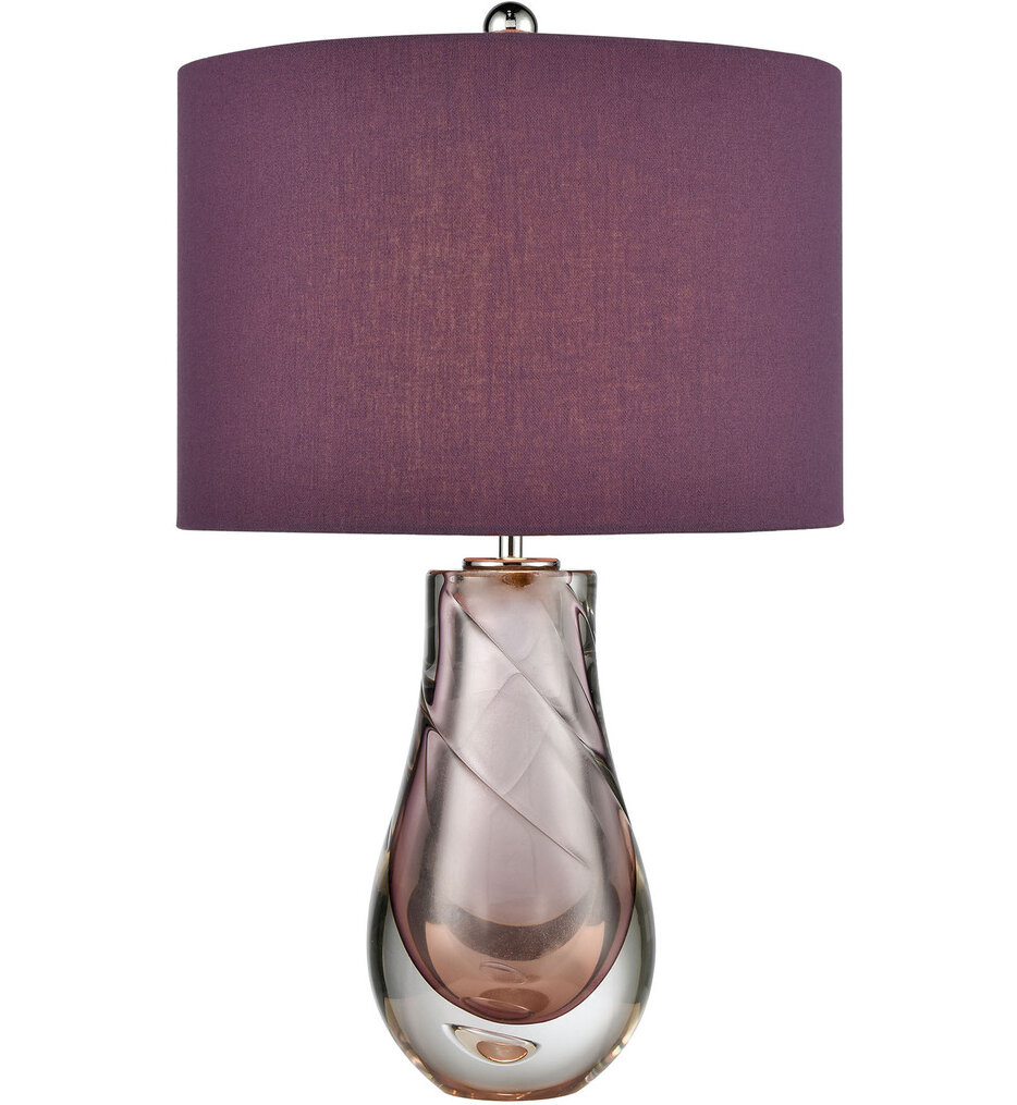 """Dusty Rose 22"""" Table Lamp"""