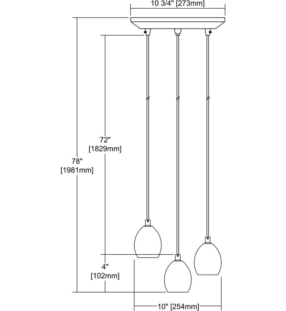"""Socketholder 12"""" Pendant"""