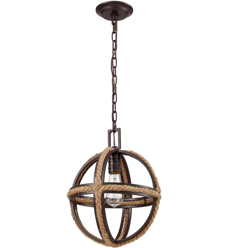 """Natural Rope 12"""" Pendant"""