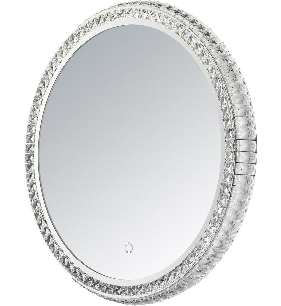 "Round Crystal 23.75"" Bathroom Mirror"