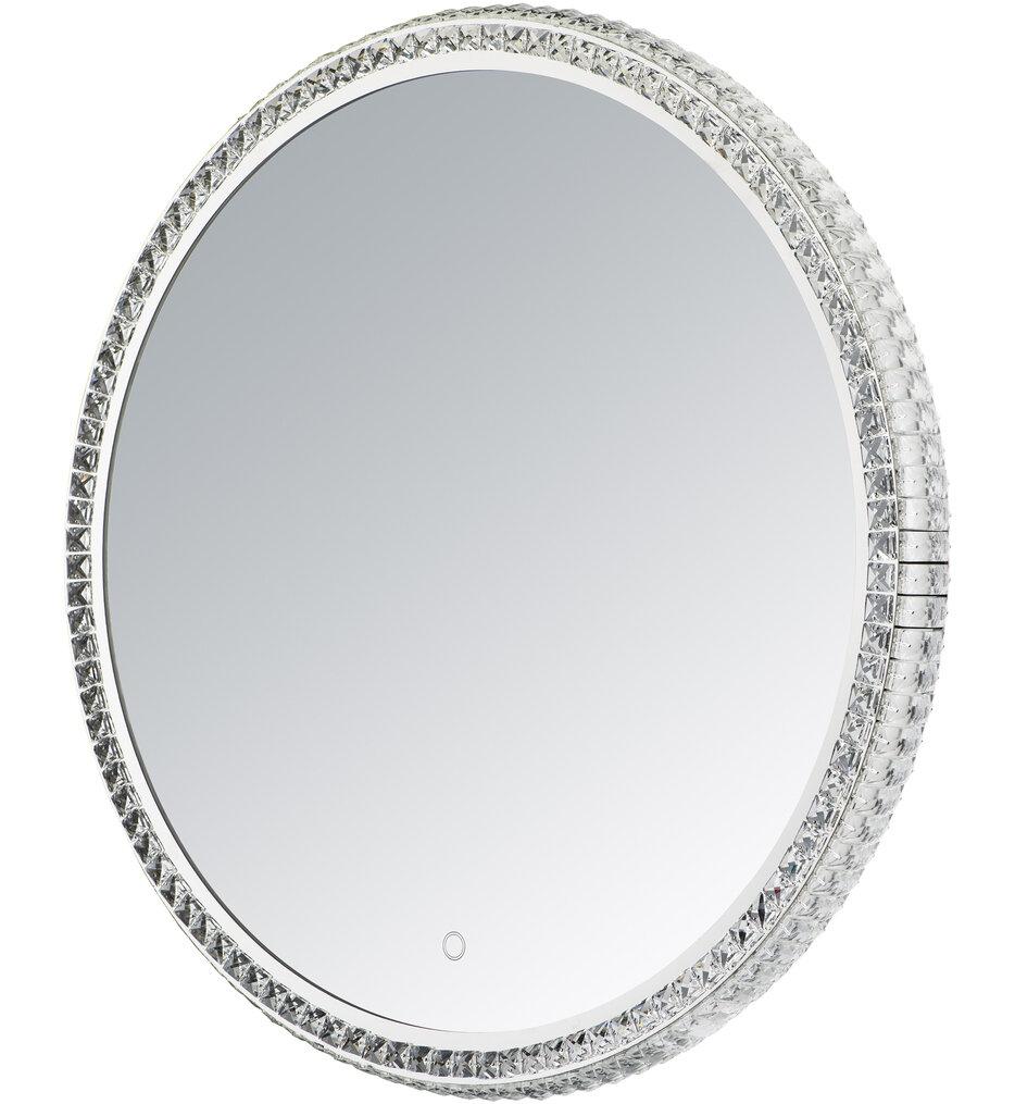 "Round Crystal 31.5"" Bathroom Mirror"