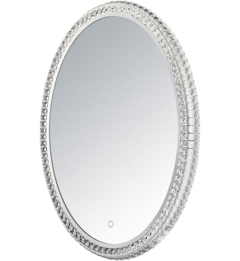 "Oval Crystal 31.5"" Bathroom Mirror"