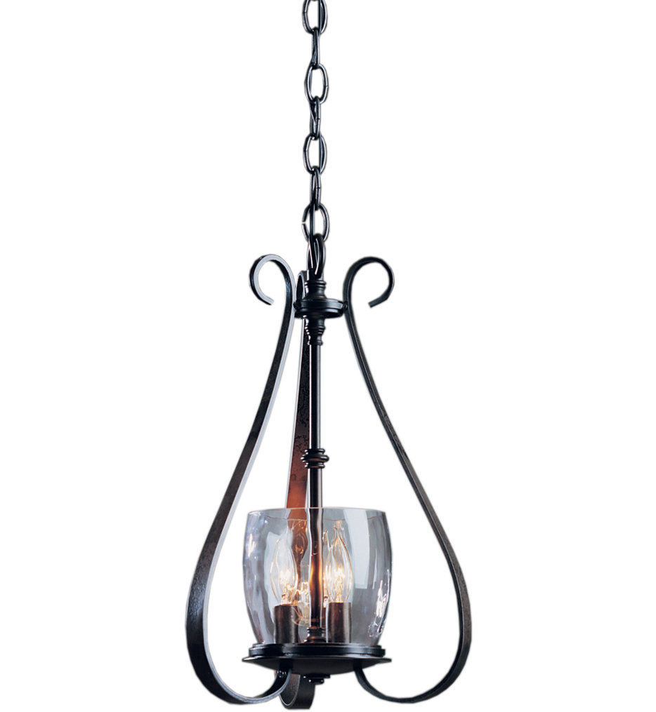 Sweeping Taper 3 Arm Chandelier with Water Glass