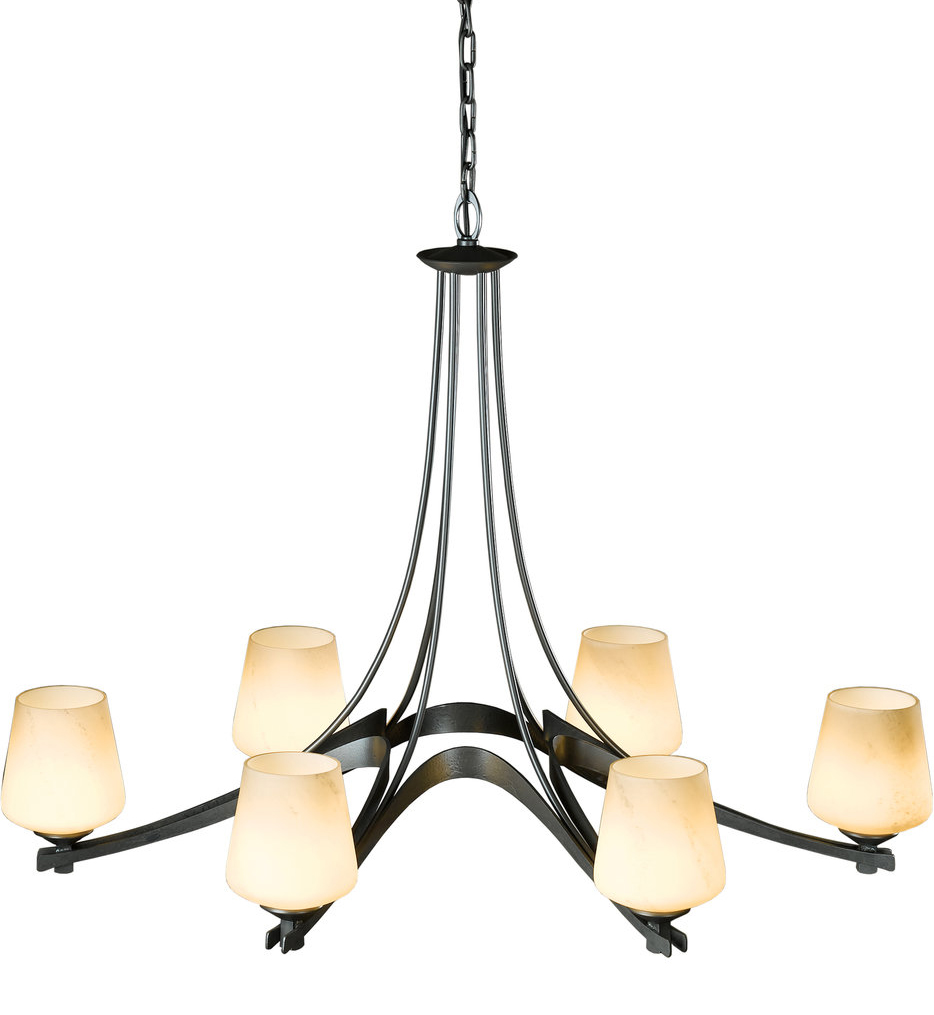 Oval 6 Arm Chandelier