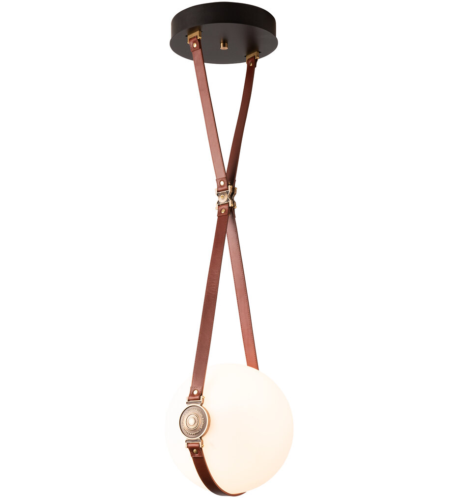 Derby Brass with Black Small Pendant