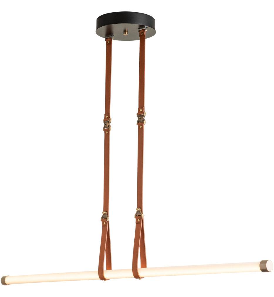 Belmont Brass with Black Large Pendant