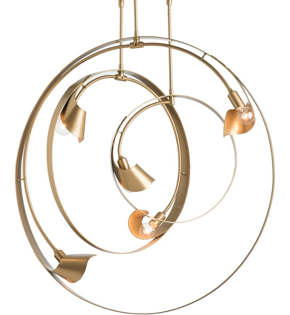 Orion Bronze 3-Pipe Triple Pendant with Long Stem