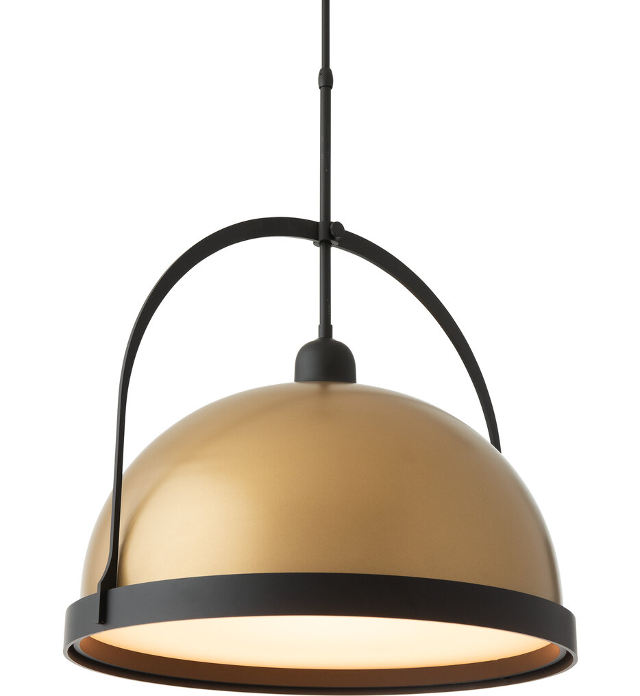 Atlas Burnished Steel with Black Large Pendant with Long Stem