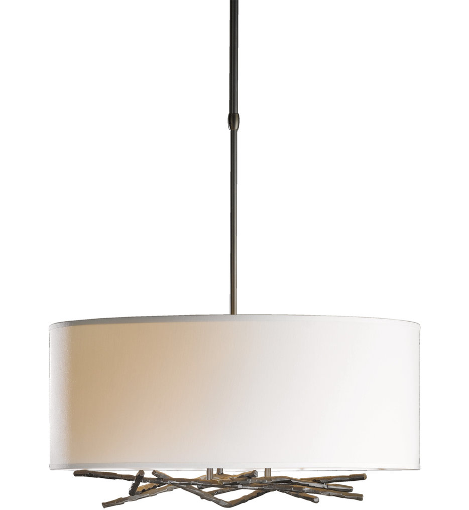 Brindille Drum Pendant with Natural Anna Shade
