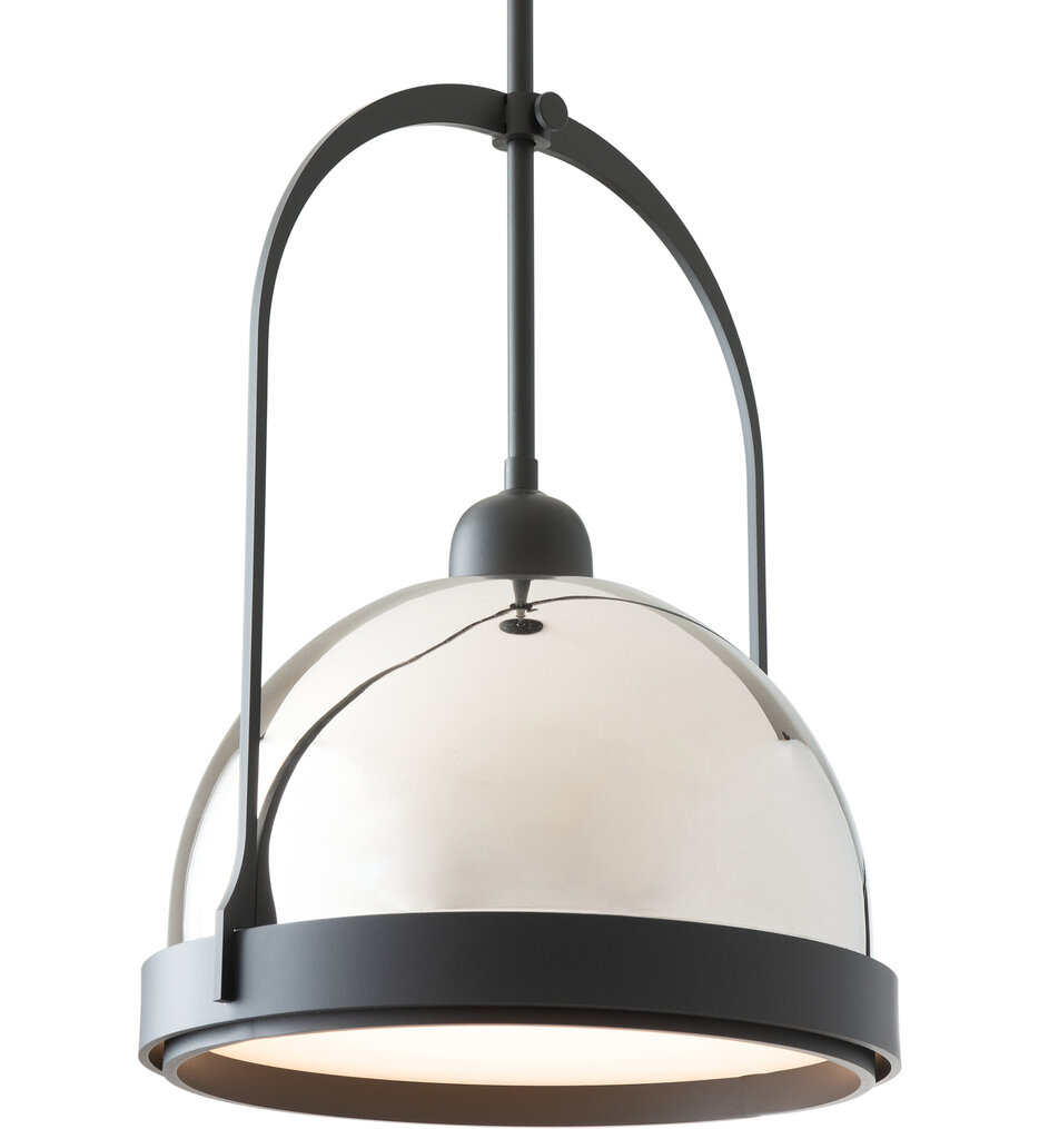 Atlas Natural Iron with Black Small Mini-Pendant with Short Stem